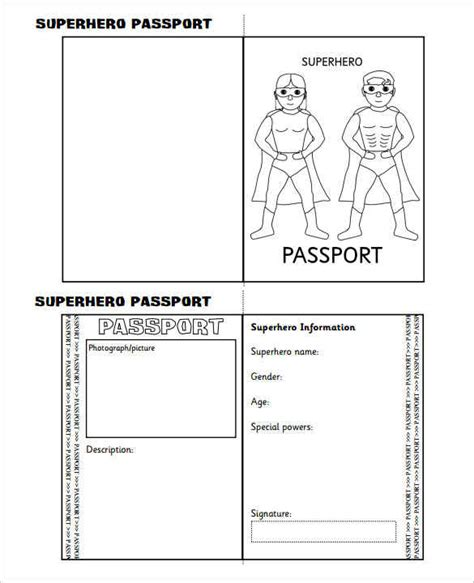 passport template 30 printable passport templates smart colorlib