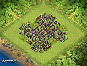 Th7 th7 clash of clans defensive base layout