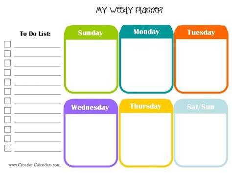 10 Weekly Planner Templates Word Excel Pdf Formats Weekly Planner Template Printable