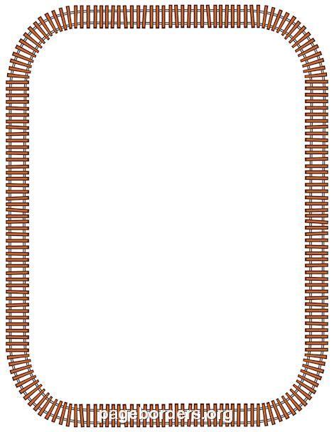 printable railroad tracks printable train track border use the border in microsoft