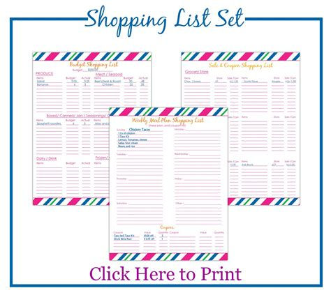 Printable Target Shopping List | printable shopping list budget meal planning simplee