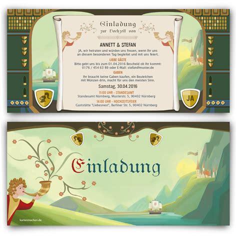 Einladung Hochzeit Bestellen by Mittelalter Hochzeit Einladungen Bestellen