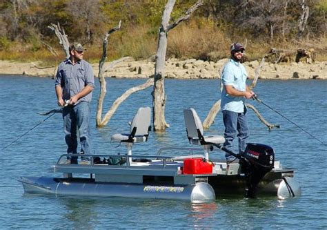 pond king boats best selling fishing pontoon boat for two anglers pond