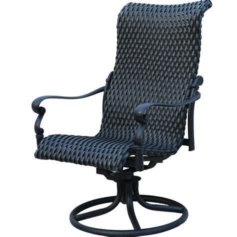 Patio Swivel Chair Patio Furniture Wicker Aluminum Rocker Swivel Chair Set 2