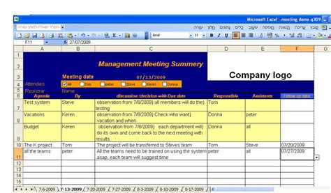 8 meeting minutes template excel bookletemplate org
