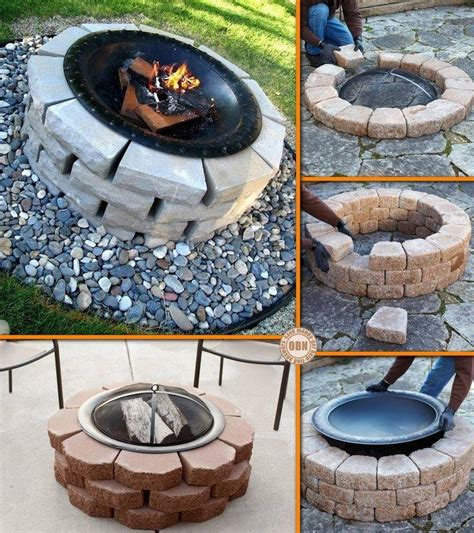 diy backyard fire pits diy outdoor fire pit instructions fireplace design ideas