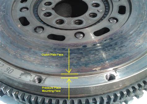 flywheel clutch face step measurement rennlist porsche