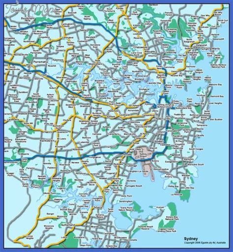 tourist map australia sydney map tourist attractions toursmaps
