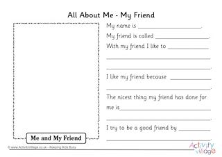 all about me essay sles friends