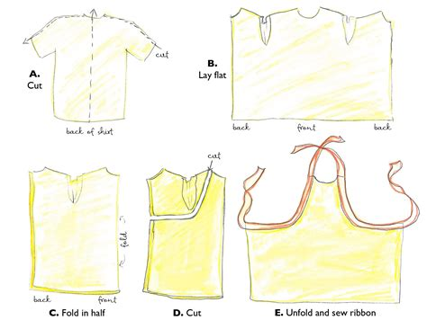 pattern for shirt apron an apron to dye for favecrafts com