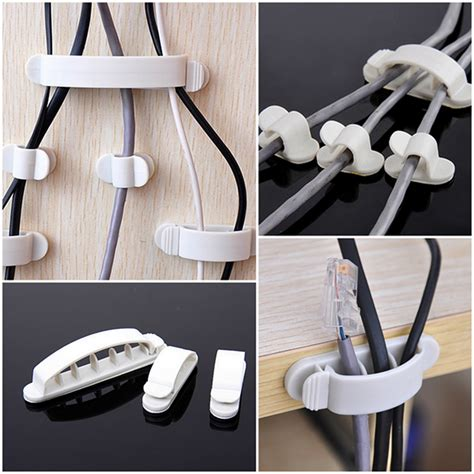 wire holder for desk 10pcs white cord clips desk tidy line wire usb charger