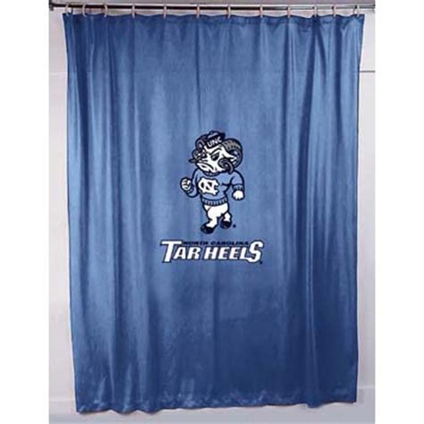 unc shower curtain north carolina tarheels unc locker room shower curtain