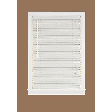 white 2 in light filtering vinyl mini blind 48 in