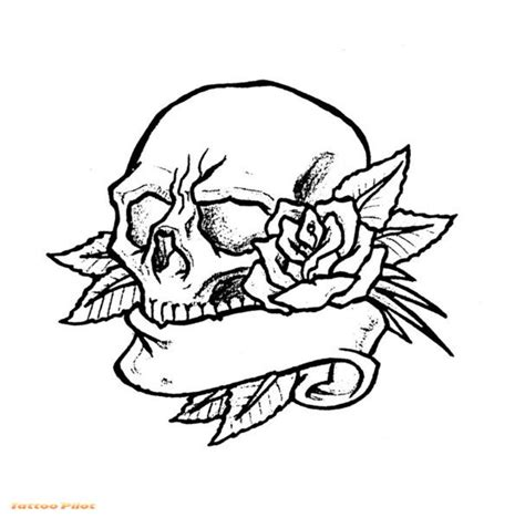 skull tattoo outline designs fish drawings designs for tattoos