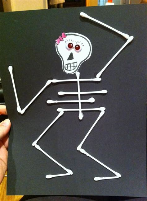 skeleton using q tips pictures to pin on pinterest pinsdaddy