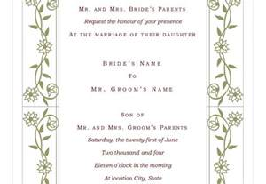 Wedding Invite Template Wording by Wedding Invitation Wording Wedding Invite Template Excel