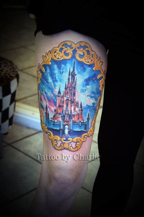 disney castle tattoos designs disney castle custom pictures to pin on tattooskid