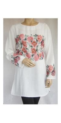 Blus Azora Motif Gajah Terfavorit Atr270 blus model blus terbaru grosir blus muslim wanita batik katun sifon ka