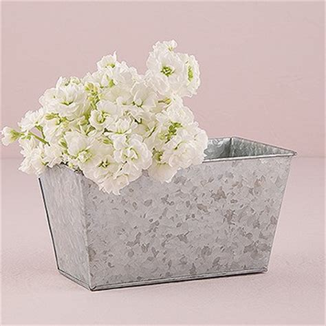 Rectangular Galvanized Planter by Galvanized Tin Rectangular Planter Weddingstar