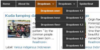 membuat navbar membuat navbar dropdown menu dengan css