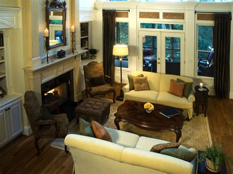 Traditional Living Room Ideas With Fireplace And Tv Warm Copper Green Eta Design