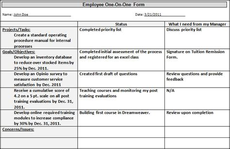 one on one meetings with employees template professional