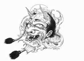 Outline In Color Masks Japanese by Oni Mask By Leperism On Deviantart