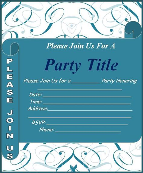 word templates for announcements event invitation template free word templates