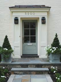 Blue Gray Front Door Tone On Tone Mixing Swedish With Traditional
