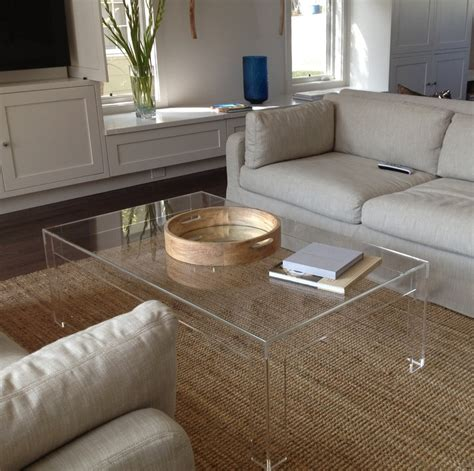clear lucite coffee table amazing lucite coffee table ikea homesfeed