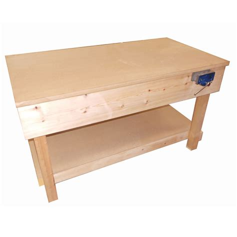 wooden work bench wooden workbench l1500 x w900 packing tables by spaceguard