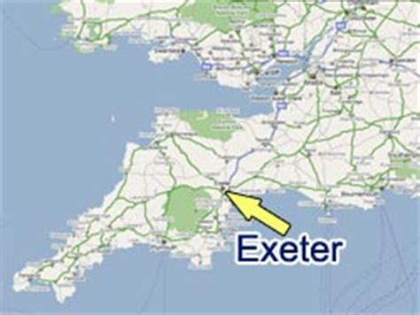 map uk exeter city and community st baptist church exeter