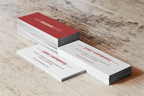 Realistic Card Psd Mockup Template by Business Card Stack Free Mockup Free Design Resources