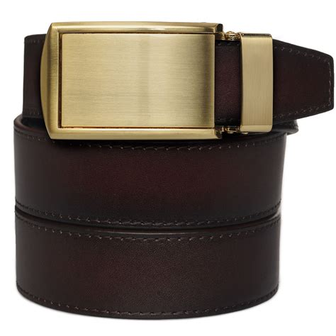slidebelts factory second mahogany grain premium