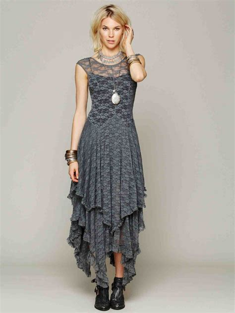 Maxi Bohemian Dress Alia Black aliexpress buy bohemian boho lace maxi dress brand grey beige pink black