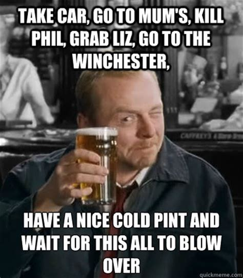Winchester Meme - take car go to mum s kill phil grab liz go to the