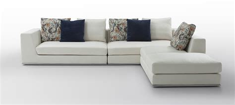 white fabric sectional sofa odessa modern white fabric sectional sofa