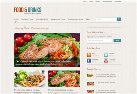 themes wordpress free food 24 free food and restaurant wordpress themes