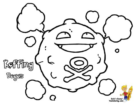pokemon coloring pages of gastly pokemon coloring pages koffing