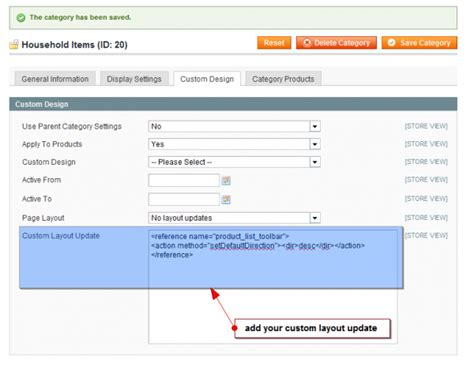 custom layout update magento css advanced layout updates for categories and products in magento