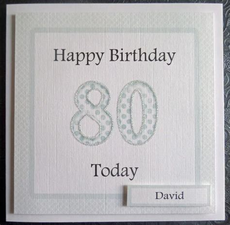 Handmade 80th Birthday Cards - personalised 80th handmade birthday card sc72