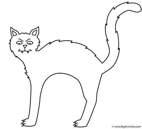 Coloring Pages Black Cats For Halloween | black cat coloring page halloween