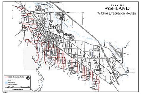 where is ashland oregon on a map the oregon wildland human