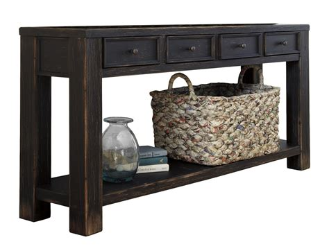 black sofa table with drawers console table for entryway with storage drawers sofa black