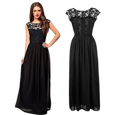 Robe Dentelle Femme - femme robe de soir 233 e bal mariage dentelle robe longue sans