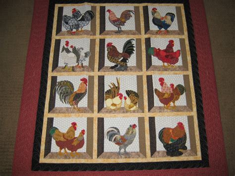 rooster quilt quilting