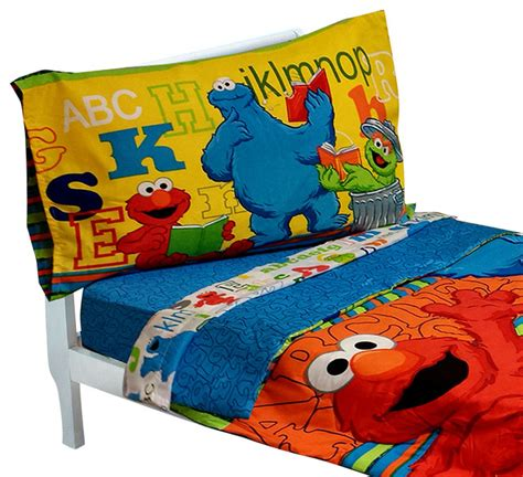 Elmo Toddler Bedding Set Sesame Toddler Bedding Elmo Abc 123 Comforter Sheets Contemporary Toddler Bedding