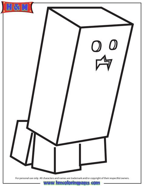 free coloring pages of creeper face