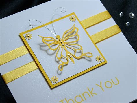 Handmade Thank You Cards - flutter handmade thank you card