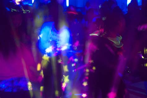 themed party lights highlighter theme party blacklight party ideas photos